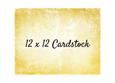 Cardstock 12x12