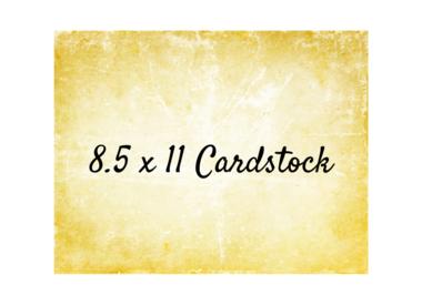 Cardstock 8.5x11