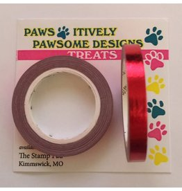 Paws-Itively Pawsome Designs Metallic Tape - Red Foil