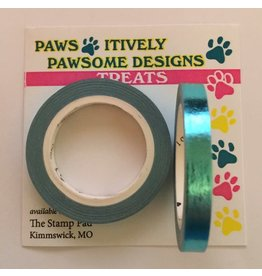 Paws-Itively Pawsome Designs Metallic Tape - Turquoise Foil