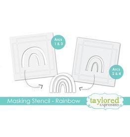 Taylored Expressions Make a Rainbow - 6x6 Designer Masking Stencil