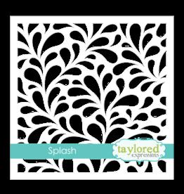 Taylored Expressions 6x6 Designer Stencil - Splash