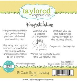 Taylored Expressions The Inside Scoop - Wedding Cling Stamp Set