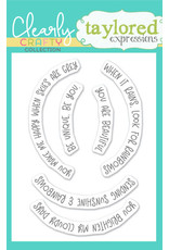 Taylored Expressions Rainbow Sentiments Clear Stamp Set