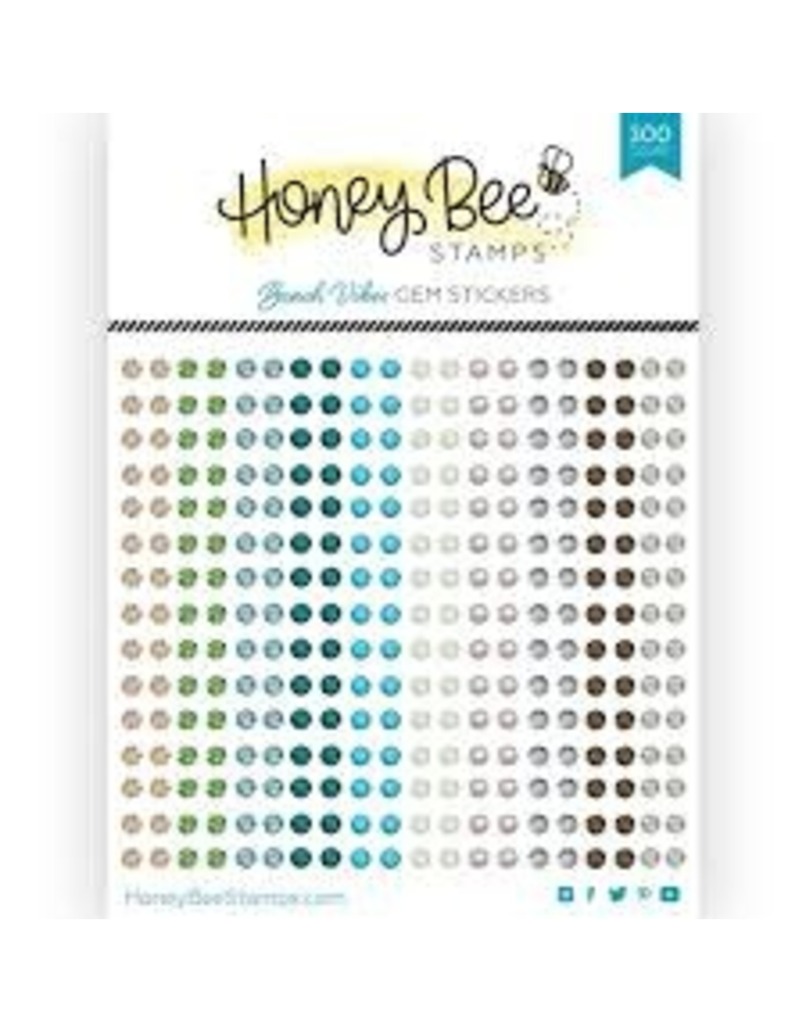 Honey Bee Stamps Gem Stickers - Beach Vibes