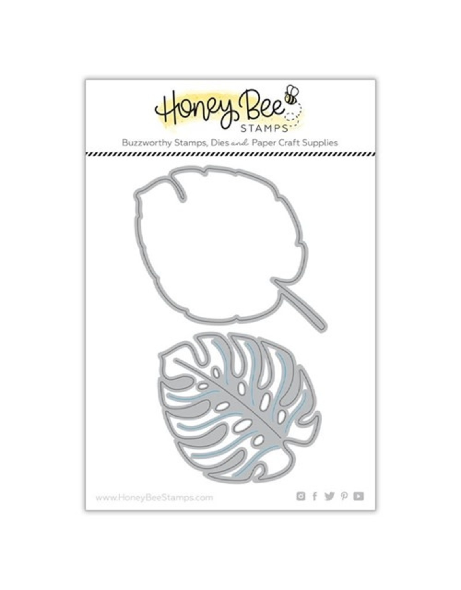 Honey Bee Stamps Lovely Layers Monstera Leaf Dies