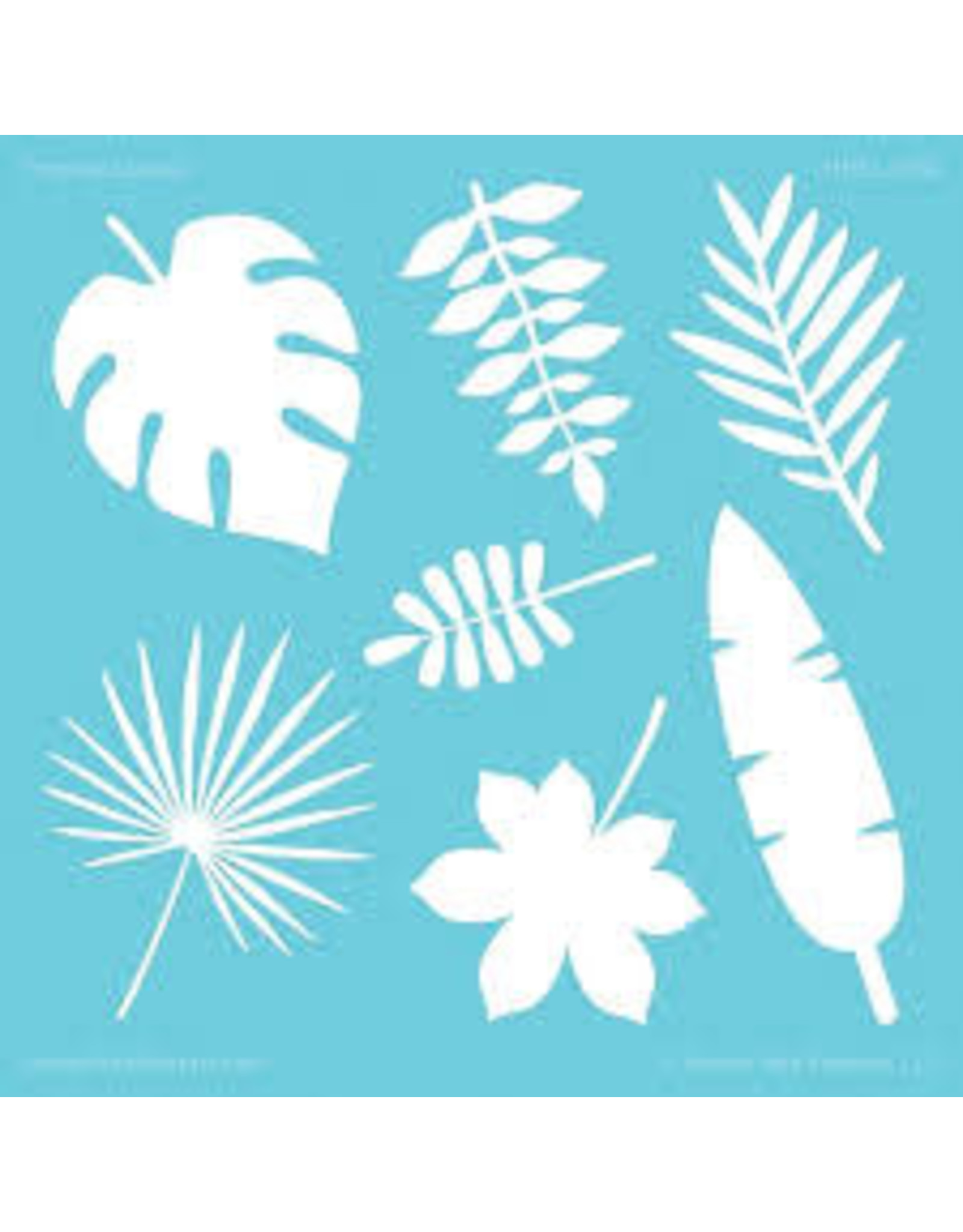 Honey Bee Stamps Tropical Leaves Stencil