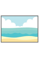 Honey Bee Stamps Beach Scene A7 Cover Plate