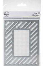 Pink Fresh Studio Diagonal Stripes with Window Panel Die
