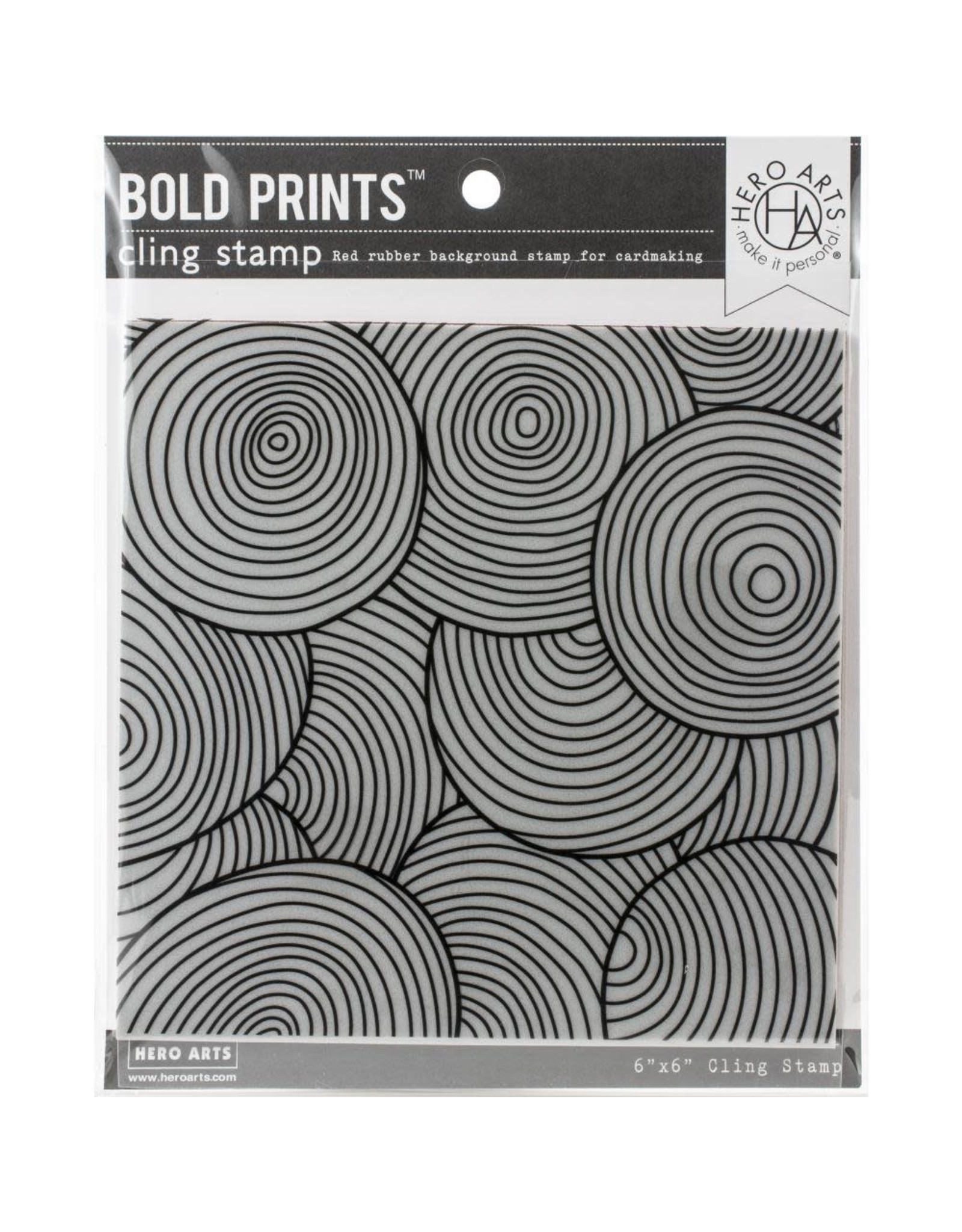 Hero Arts Circle Pattern Bold Prints 6x6 Background Stamp