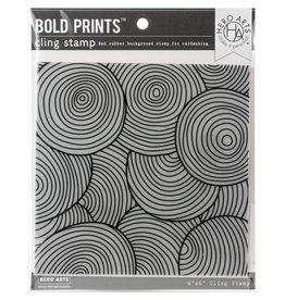 Hero Arts Circle Pattern Bold Prints 6x6 Background Stamp