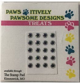 Paws-Itively Pawsome Designs Tiny Eyes - Silver 3mm (Qty 20)