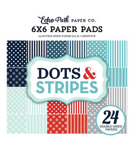 Echo Park Dots & Stripes - Winter 6x6 Paper Pad