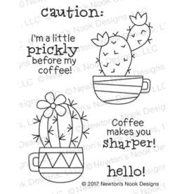 Newton's Nook Cuppa Cactus Clear Stamp Set