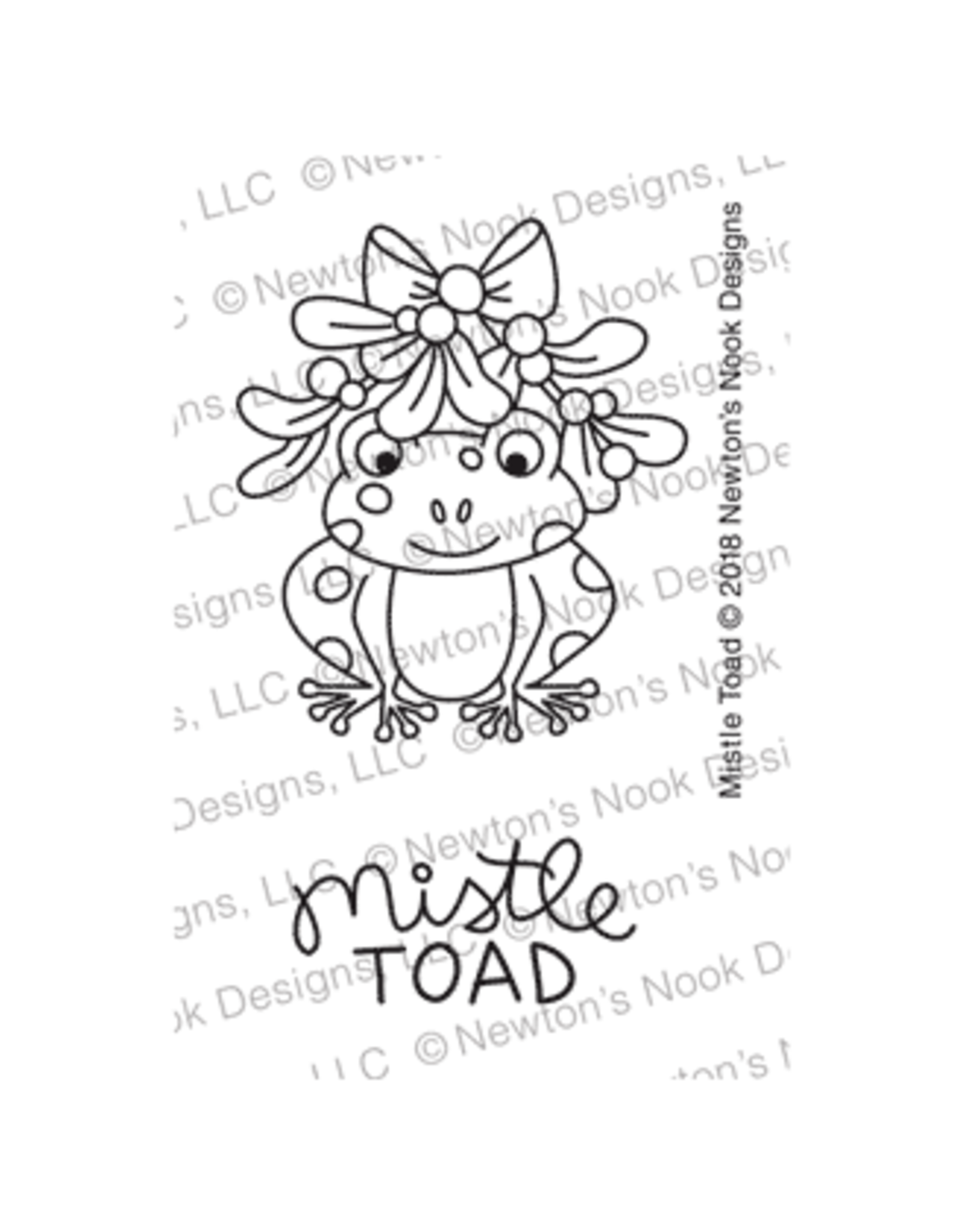 Newton's Nook Mistle Toad Clear Stamp Set
