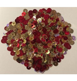 Paws-Itively Pawsome Designs Sequins Mix (5mm) - Royal Elegance-Red