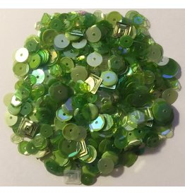 Paws-Itively Pawsome Designs Sequins Mix - Green