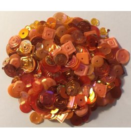 Paws-Itively Pawsome Designs Sequins Mix - Fall Orange