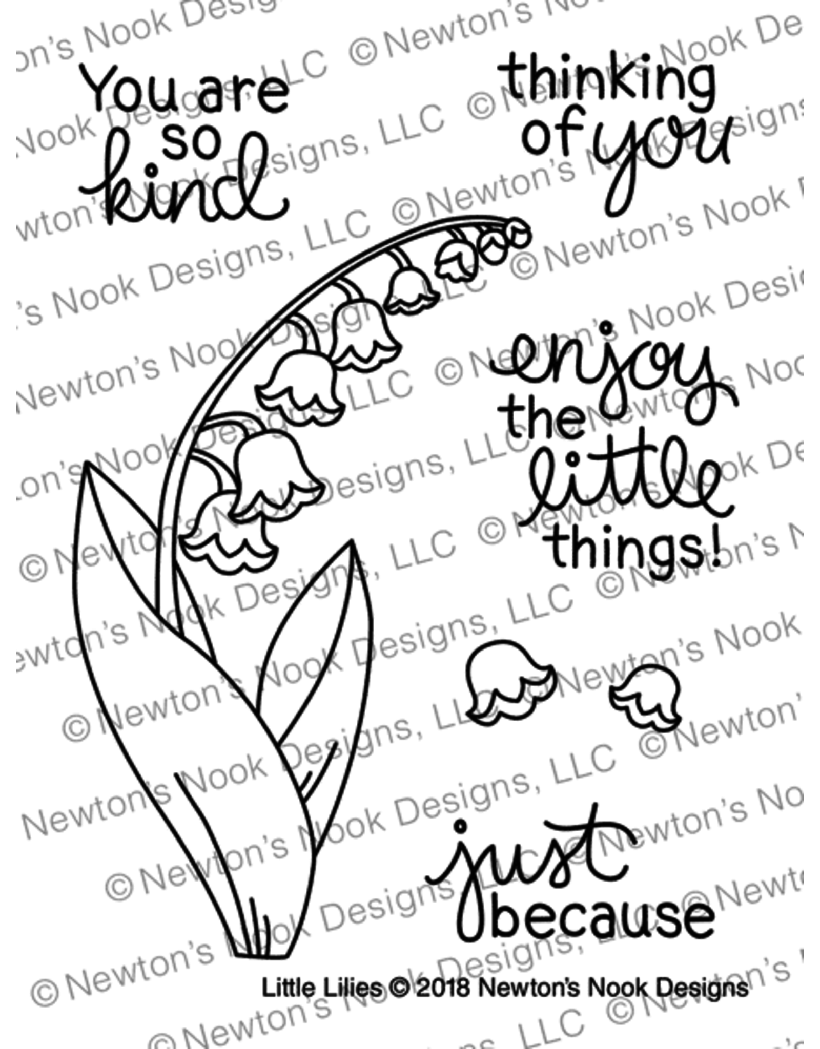 Newton's Nook Little Lilies Clear Stamp Set