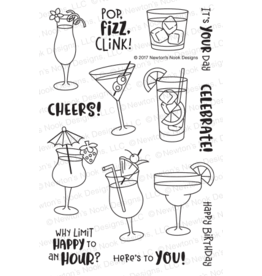 Newton's Nook Cocktail Mixer Clear Stamp Set