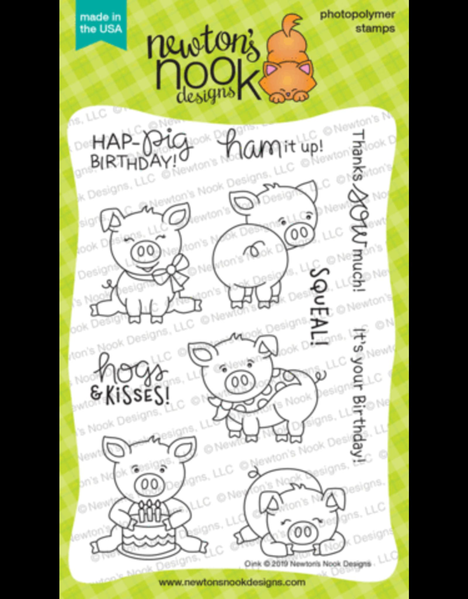 Newton's Nook Oink -Clear Stamp Set
