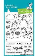 Lawn Fawn Unicorn Picnic Clear Stamp Set