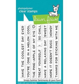 Lawn Fawn Simply Summer Sentiments Clear Stamp Set