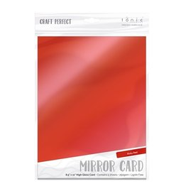 Tonic Studio Craft Perfect-Mirror Card Gloss-Ruby Red