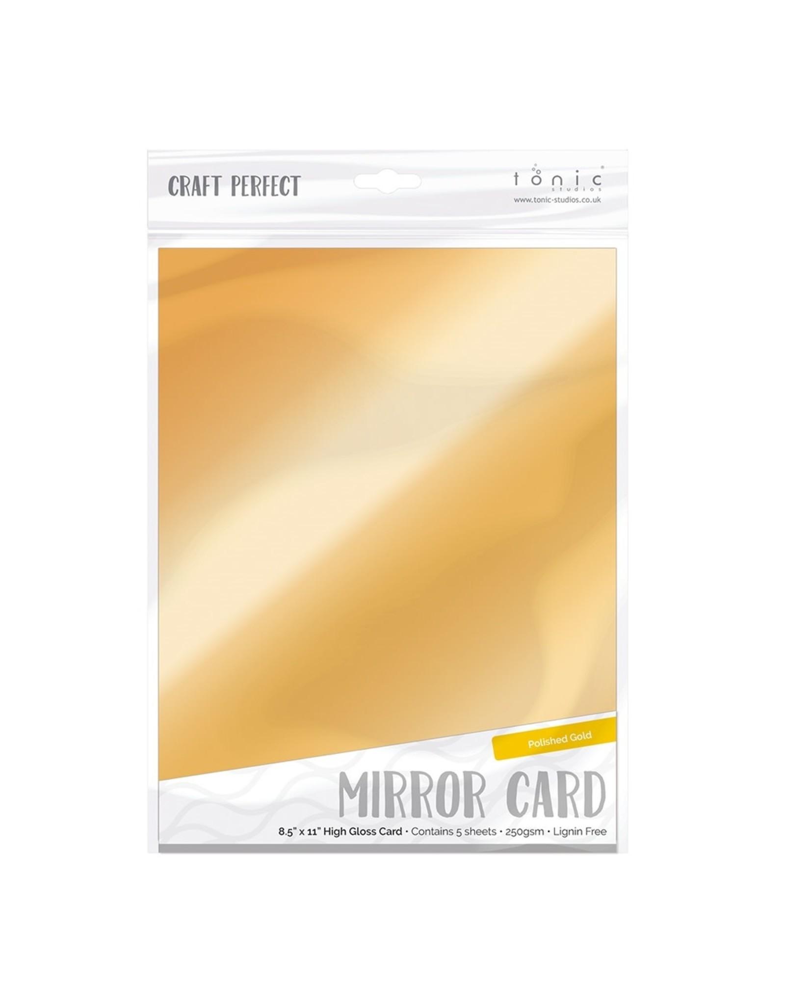 Tonic Studio Craft Perfect-Mirror Card Gloss-Polished Gold