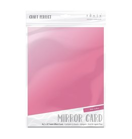 Craft Perfect Craft Perfect Mirror Card Satin Effect Pink Chiffon