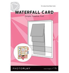 Photo Play Makers Series - White Waterfall Card (3 Pk)