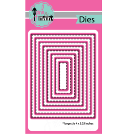 Pink and Main Stitched Rectangles Die Set 2