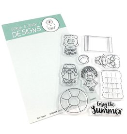 Gerda Steiner Designs Pool Piggies Clear Stamp Set