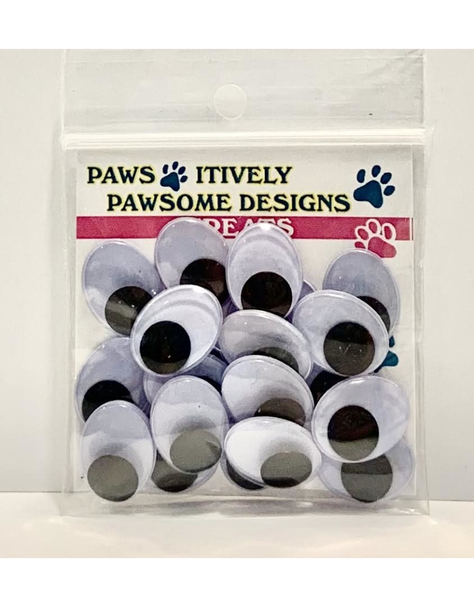 Paws-Itively Pawsome Designs Wiggle Eyes (Oval) - 18mm (Qty 20)