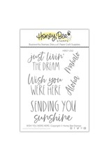 Honey Bee Stamps Wish You Were Here Clear Stamp Set