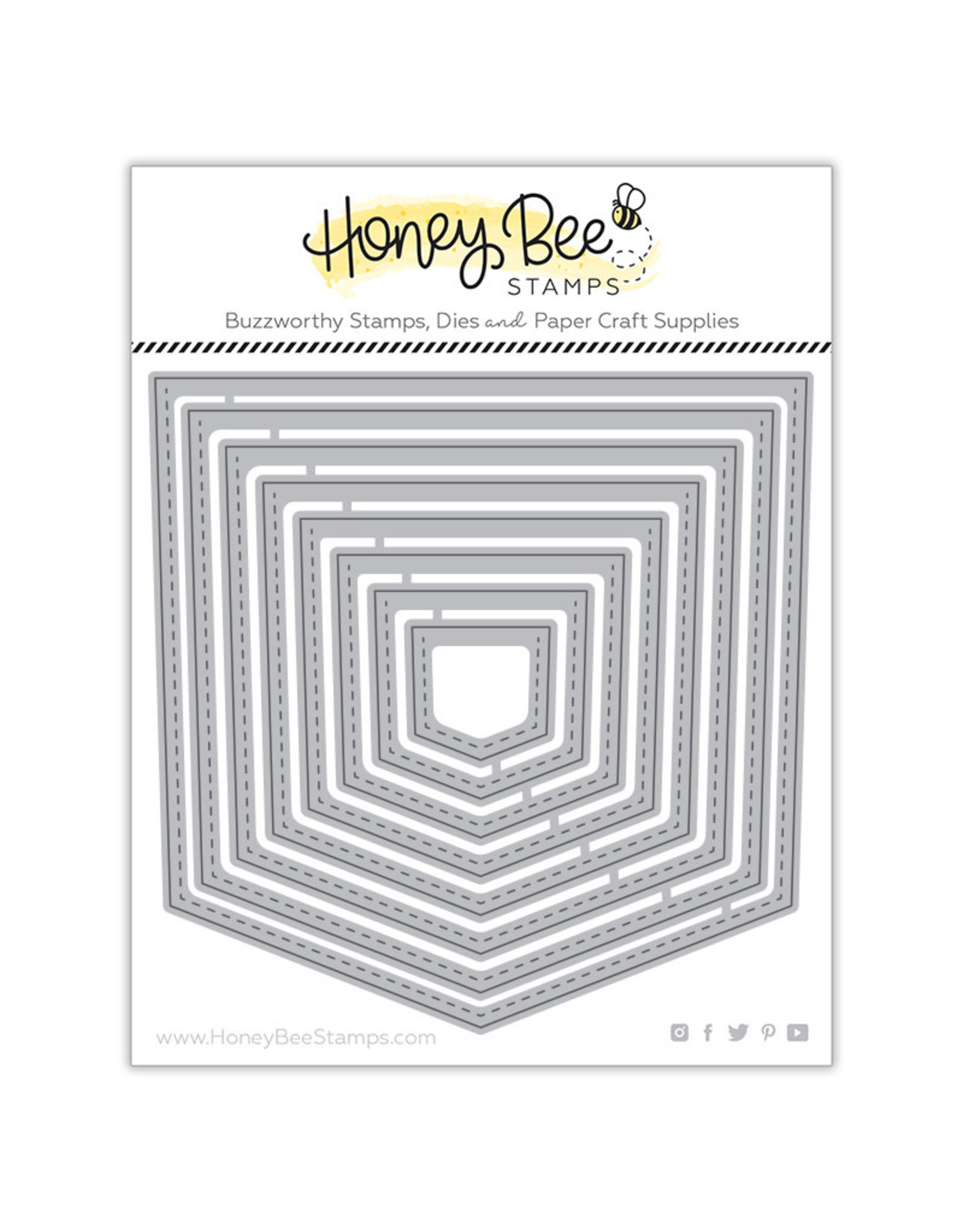 Honey Bee Stamps Stacking Pockets Honey Cut Dies