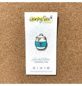 Honey Bee Stamps Honey Bee Enamel Pin - Honey Jar