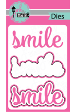 Pink and Main Smile Script Clear Stamp Set