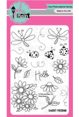 Pink and Main Daisy Bugs Clear Stamp Set