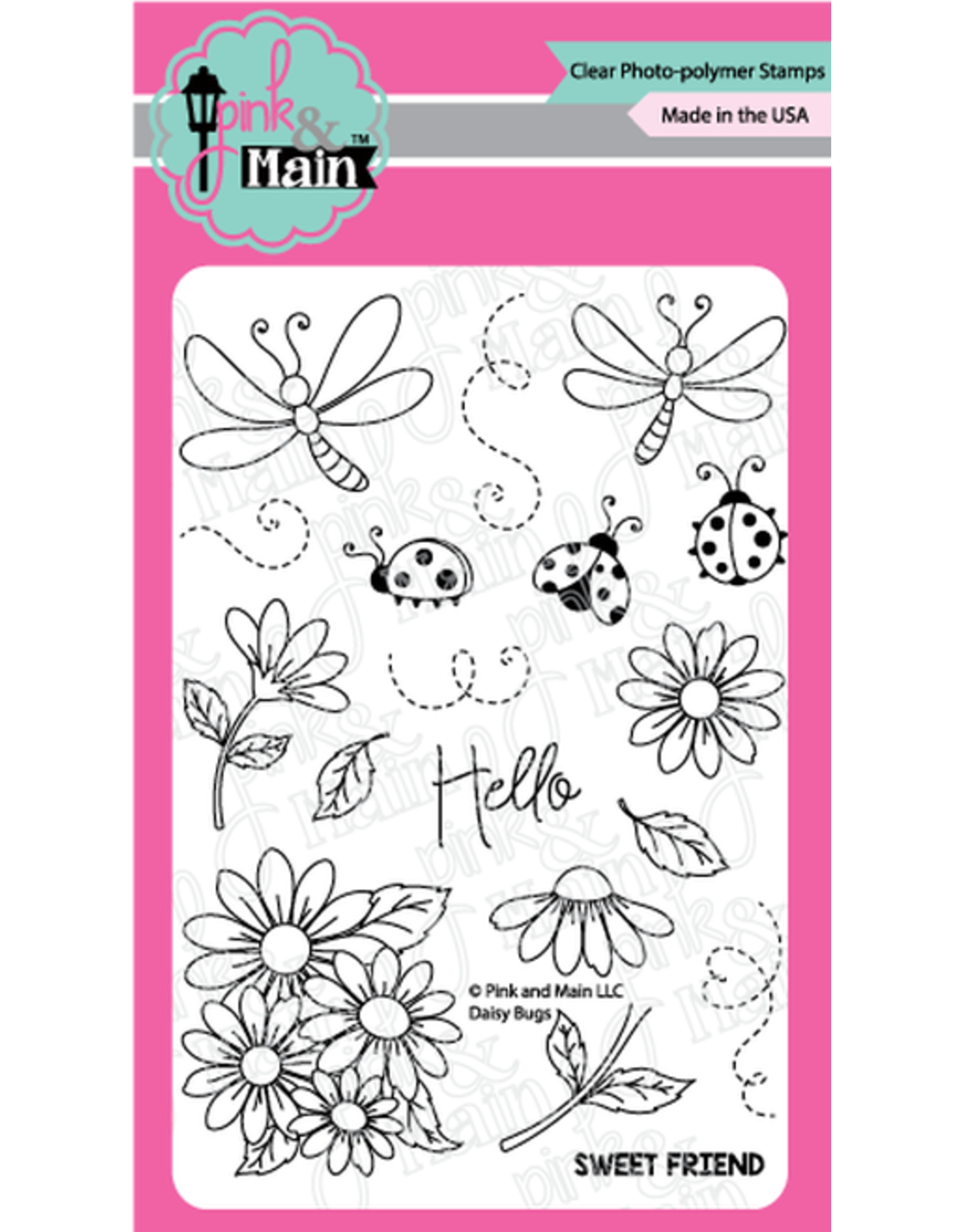 Pink and Main Daisy Bugs Dies