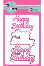 Pink and Main Birthday Script Clear Stamp Set