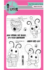 Pink and Main BEE Day Clear Stamp Set
