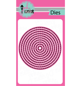 Pink and Main Stitched Circle Dies