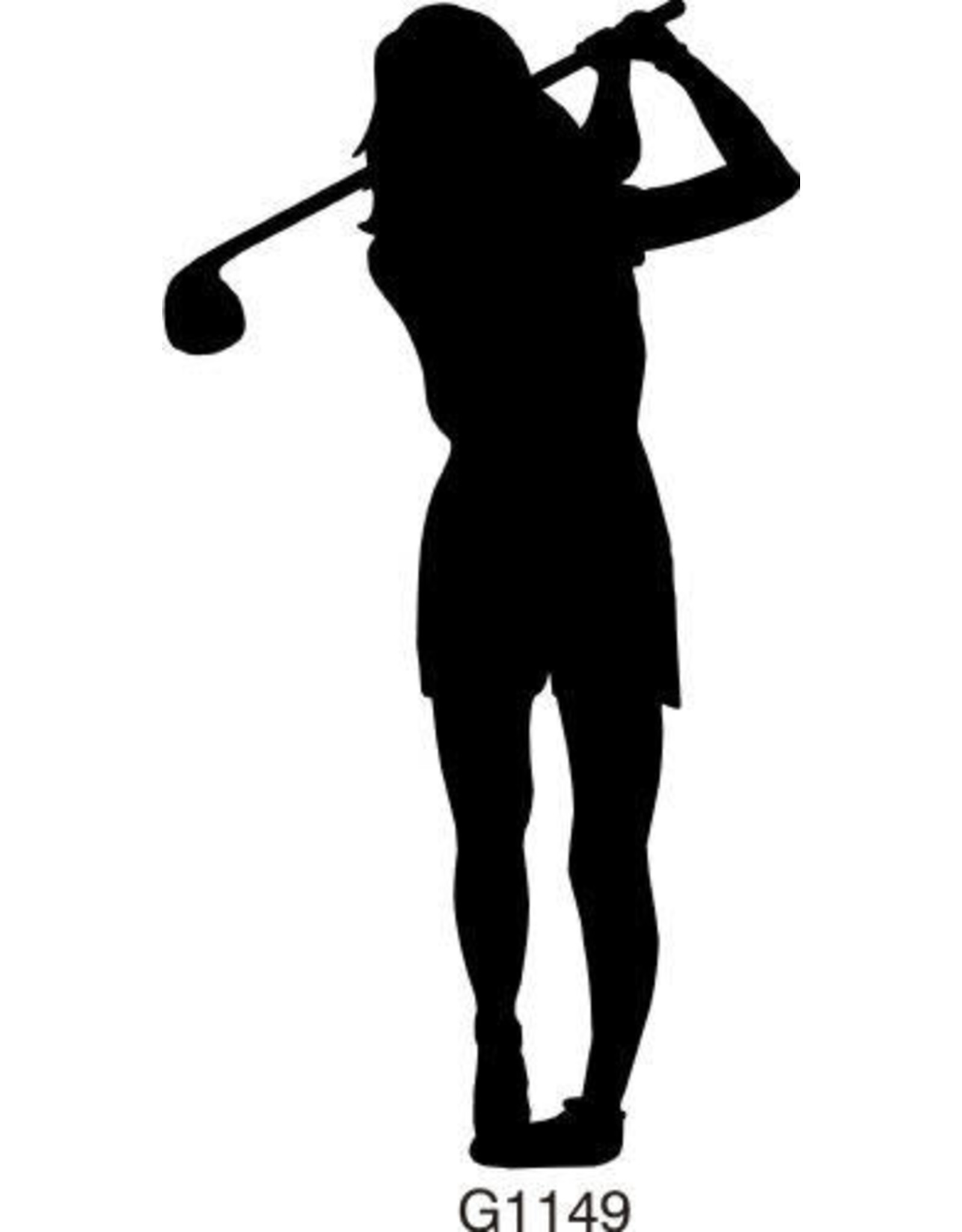 DRS Designs Silhouette Female Golfer Cling Stamp