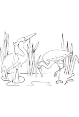 DRS Designs Cranes Cling Stamp