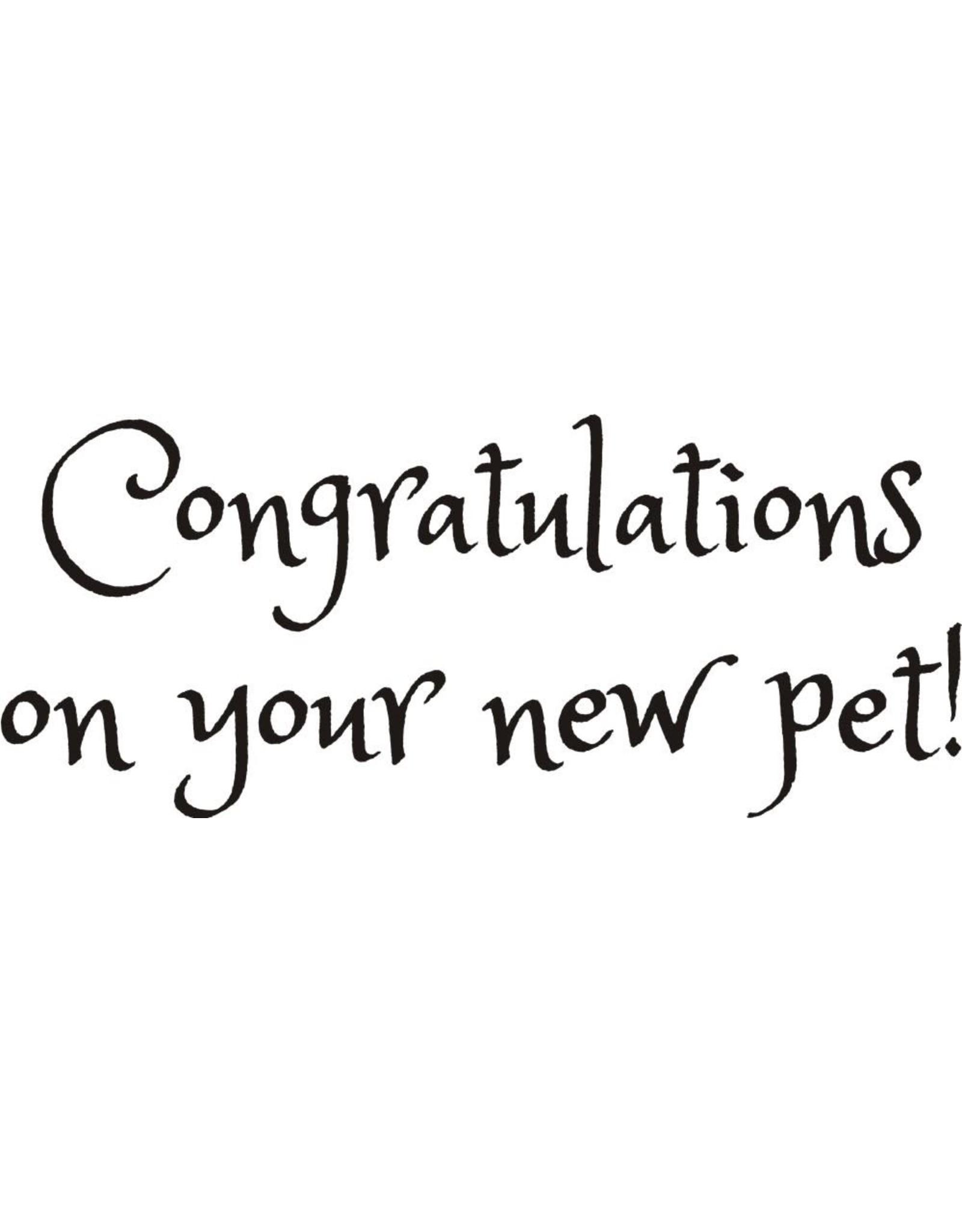DRS Designs New Pet Congratulations Cling Stamp