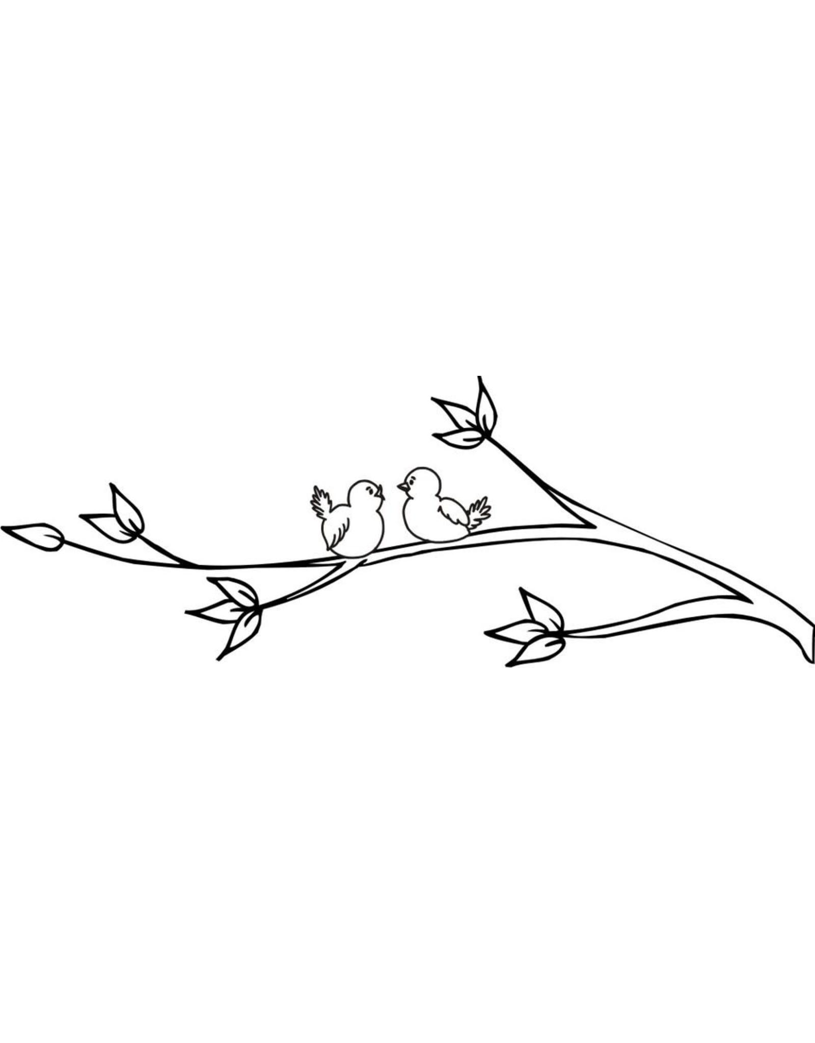 DRS Designs Lovebirds Branch Cling Stamp
