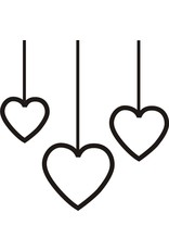 DRS Designs Small Hanging Hearts Cling Stamp