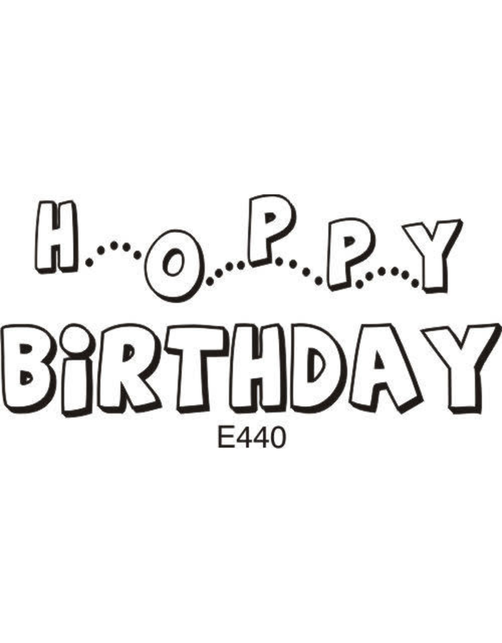 DRS Designs Hoppy Birthday Cling Stamp