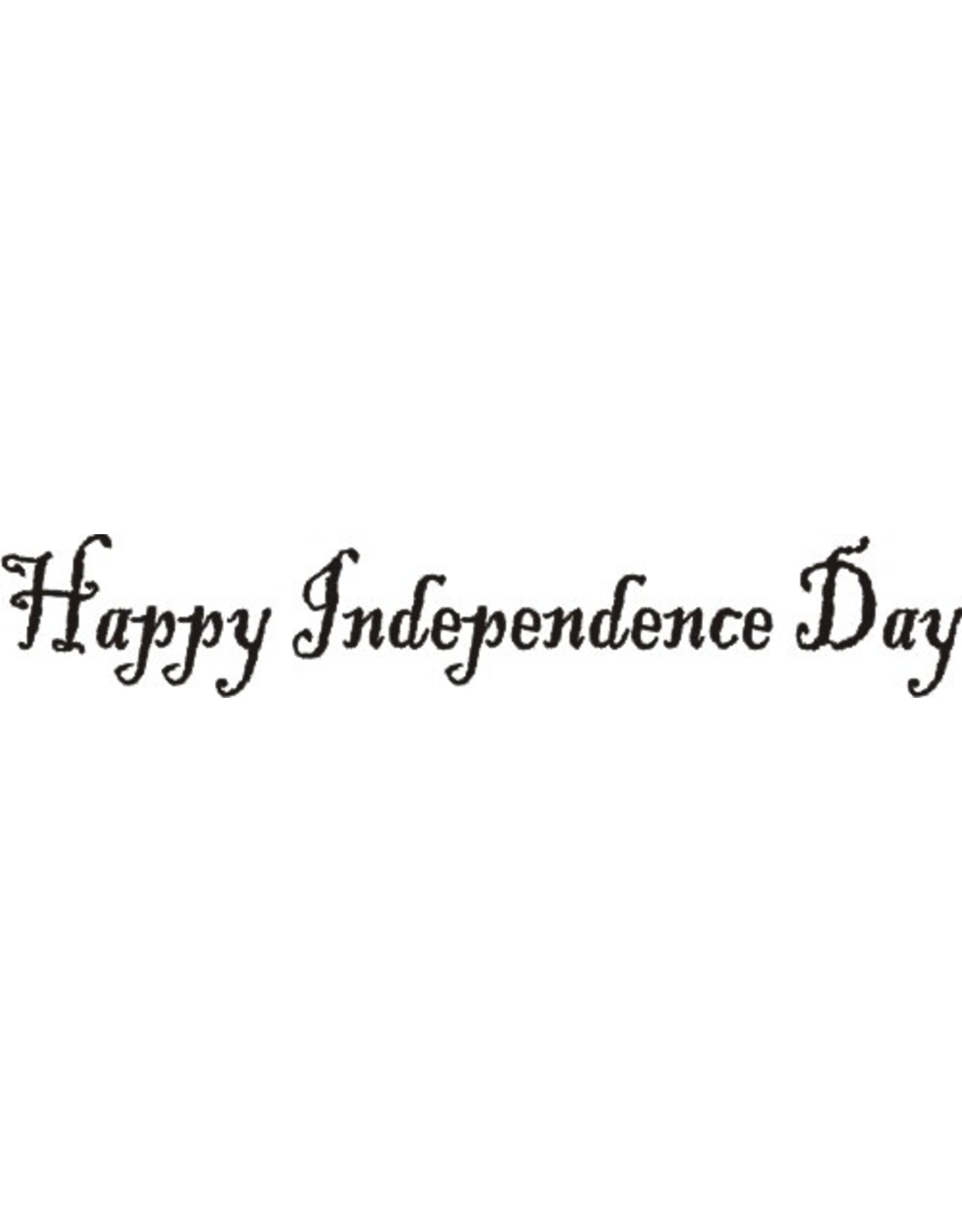 DRS Designs Happy Independence Day Cling Stamp